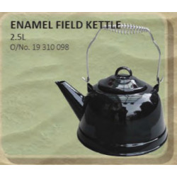 Kettle With Folding Handle Enamel Black 2.5L