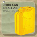Jerry Can Metal 20L Yellow (Diesel)