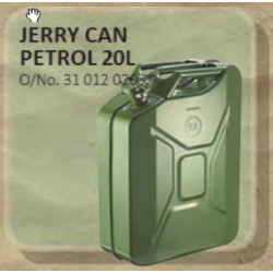 Jerry Can Metal 20L Green (Petrol)