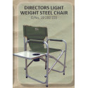 Chair Director Steel_with side table