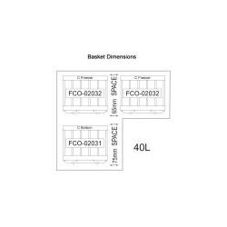 NL 40 S/S LEGACY Fridge/Freezer (3 x baskets)