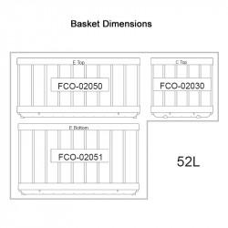 NL 52 S/S LEGACY Fridge/Freezer (3 X Baskets)