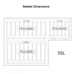 NL 55 S/S LEGACY Fridge/Freezer (3 x Baskets)