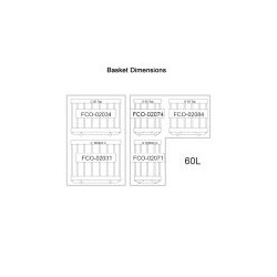 NL 60 S/S LEGACY Dual Control fridge/Freezer (5 x Baskets)