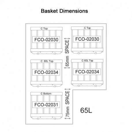 NL 65 S/S LEGACY Fridge/Freezer (5 x Baskets)
