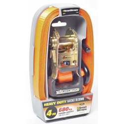 Smart Strap 4M 680KG Pad Ratchet 1Pack Orange