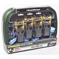 Smart Strap 4M 340KG Pad Ratchet 4 Pack Green