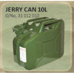 Jerry Can Metal 10L Green/Red (Petrol)
